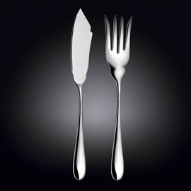 Набор: нож сервировочный для рыбы 28 см, вилка сервировочная для рыбы 26,5 см WL‑999133/2C