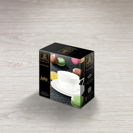 Cappuccino Cup & Saucer In Colour Box WL‑880106/1C, 2 image