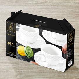 Cappuccino Cup & Saucer Set of 6 in Gift Box WL‑880106/6C, 2 image