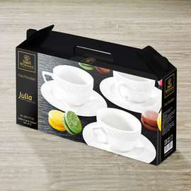 Coffee Cup & Saucer Set of 6 in Gift Box WL‑880107/6C, 2 image