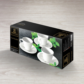 Tea Cup & Saucer Set of 4 in Colour Box WL‑993004/4C, 2 image