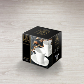 Coffee Cup & Saucer Set of 2 in Colour Box WL‑993005/2C, 2 image