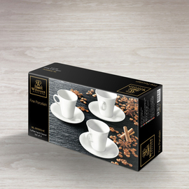 Coffee Cup & Saucer Set of 4 in Colour Box WL‑993005/4C, 2 image