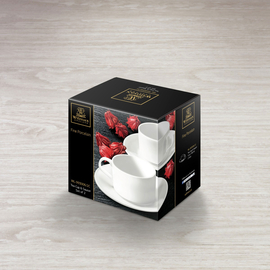 Tea Cup & Saucer Set of 2 in Colour Box WL‑993006/2C, 2 image