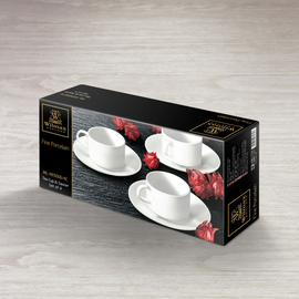 Tea Cup & Saucer Set of 4 in Colour Box WL‑993006/4C, 2 image