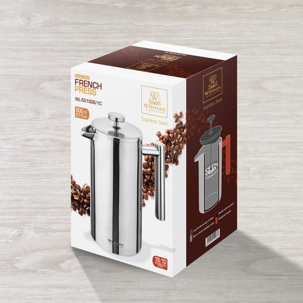 Double Wall French Press in Colour Box WL‑551006/1C, 2 image