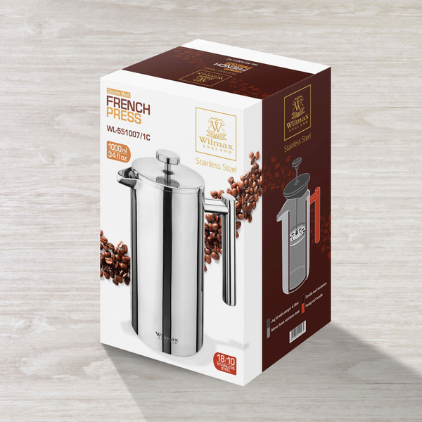 Double Wall French Press in Colour Box WL‑551007/1C, 2 image