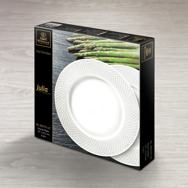 Dinner Plate Set of 2 in Gift Box WL‑880101/2C, 2 image