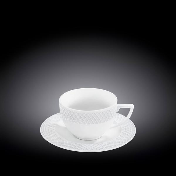 Чашка чайная и блюдце 240 мл WL‑880105/AB