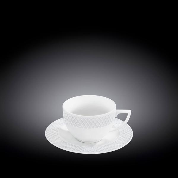 Чашка для капучино и блюдце 170 мл WL‑880106/AB
