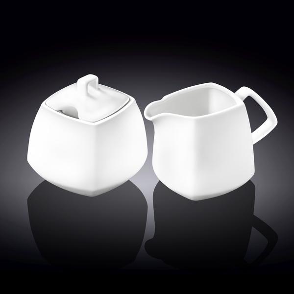 Sugar Bowl & Creamer Set in Colour Box WL‑995028/2C